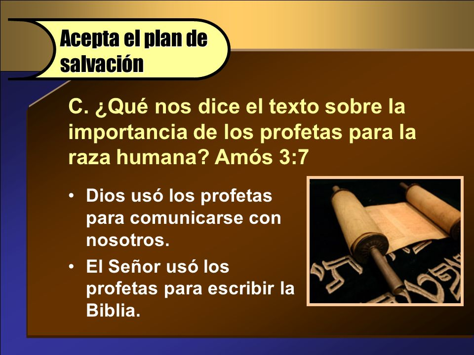 Acepta el plan de salvación Accept God's Plan of Salvation