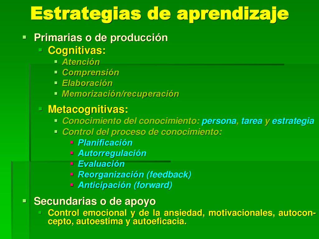 Estrategias De Aprendizaje Ppt Descargar