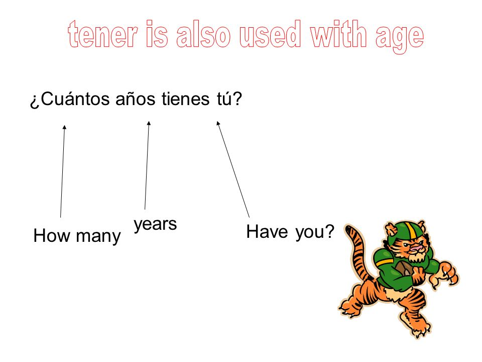 tener is also used with age