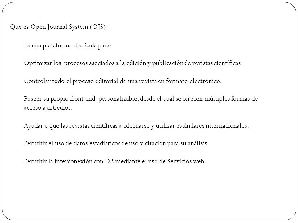 Que es Open Journal System (OJS)