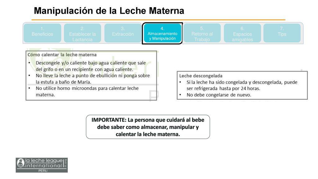446762749237 La Lactancia Materna y el Retorno al Trabajo - ppt descargar