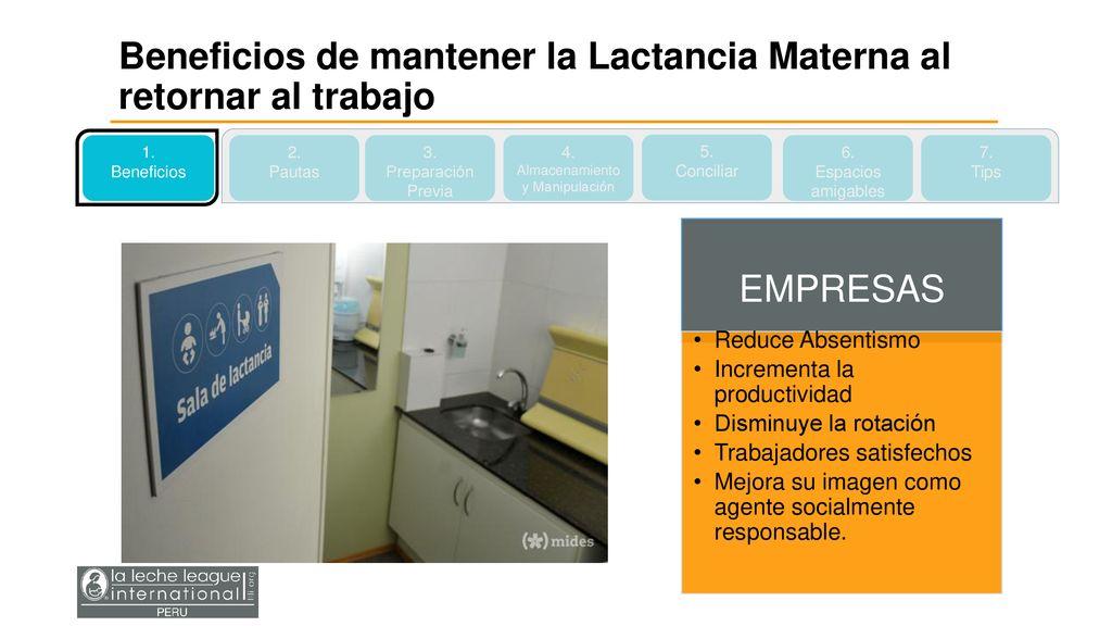237df1e84e88 7 Almacenamiento y Manipulación Beneficios de mantener la Lactancia Materna  al retornar al trabajo ...