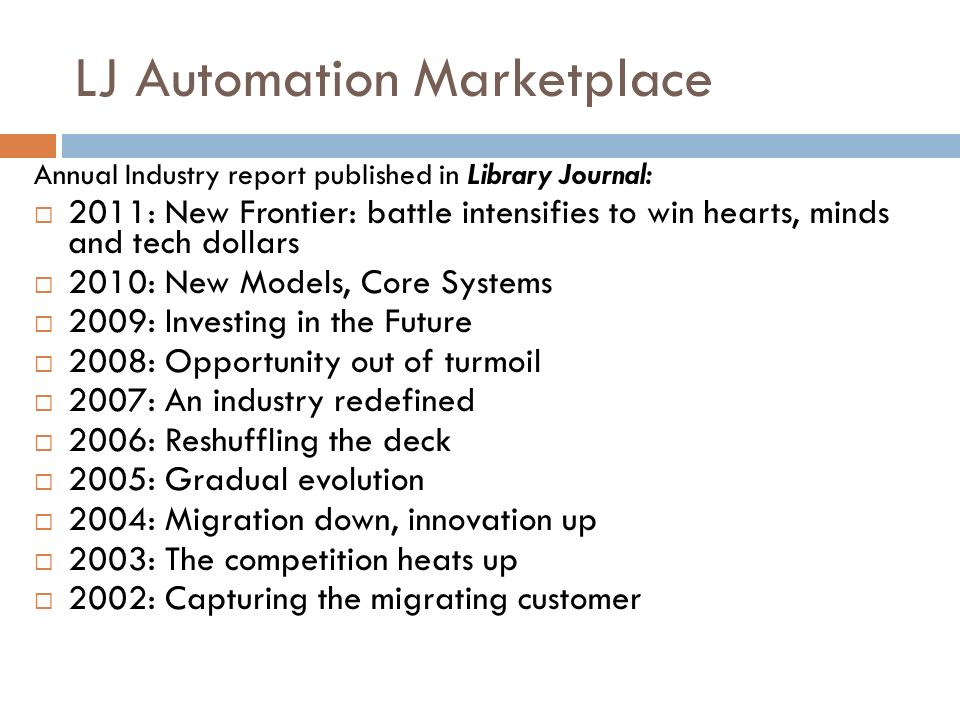 LJ Automation Marketplace