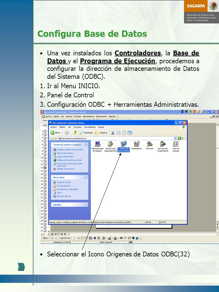 Configura Base de Datos