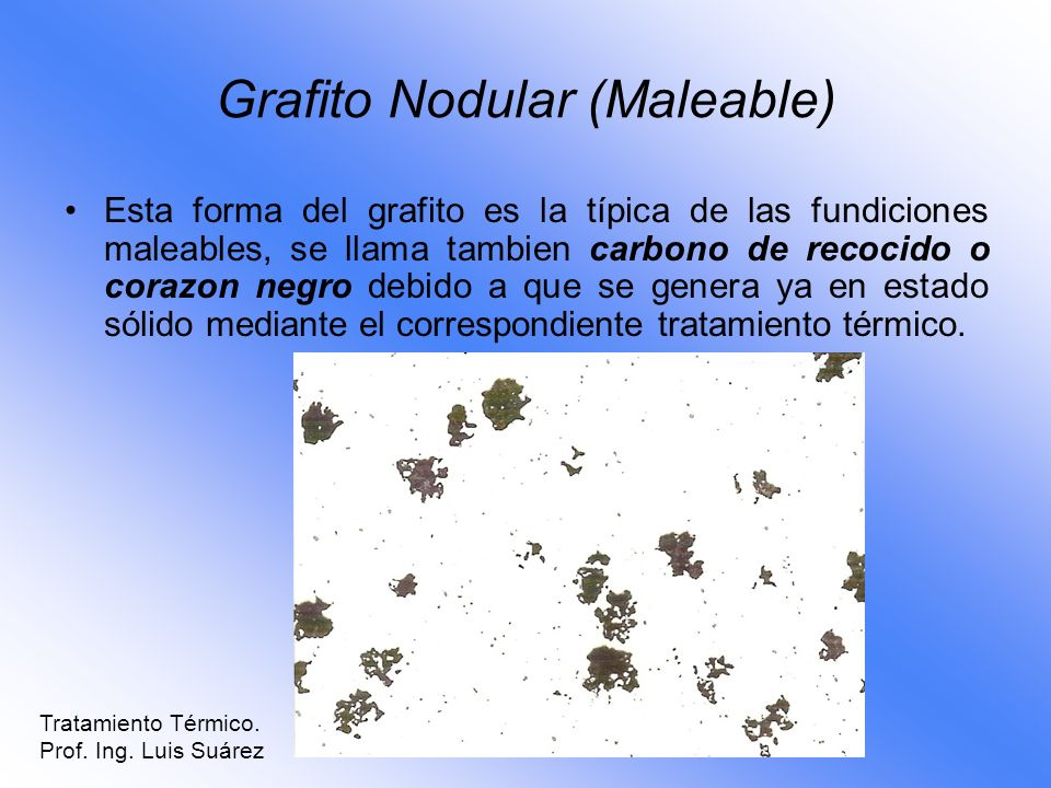 Grafito Nodular (Maleable)