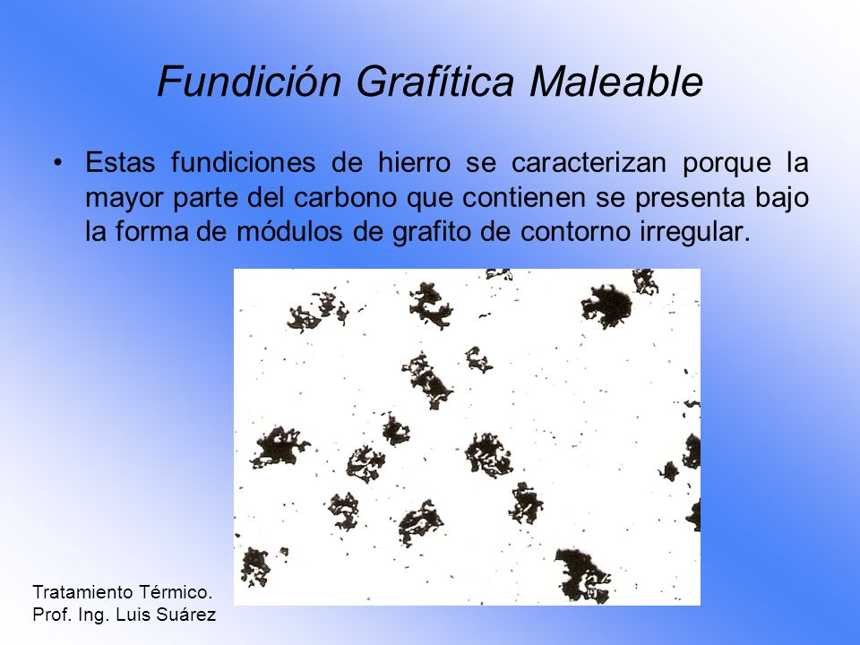 Fundición Grafítica Maleable