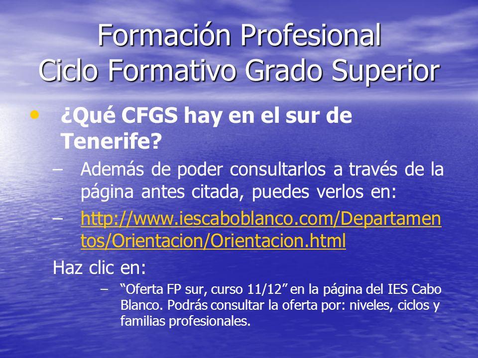 Formación Profesional Fp Ciclos Formativos De Grado