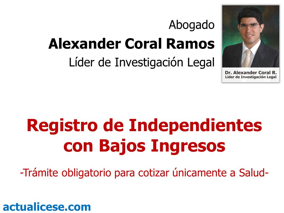 Registro de Independientes