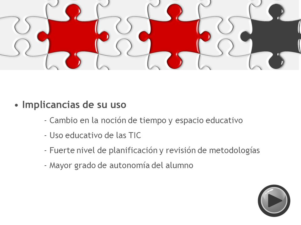 Implicancias de su uso - Uso educativo de las TIC
