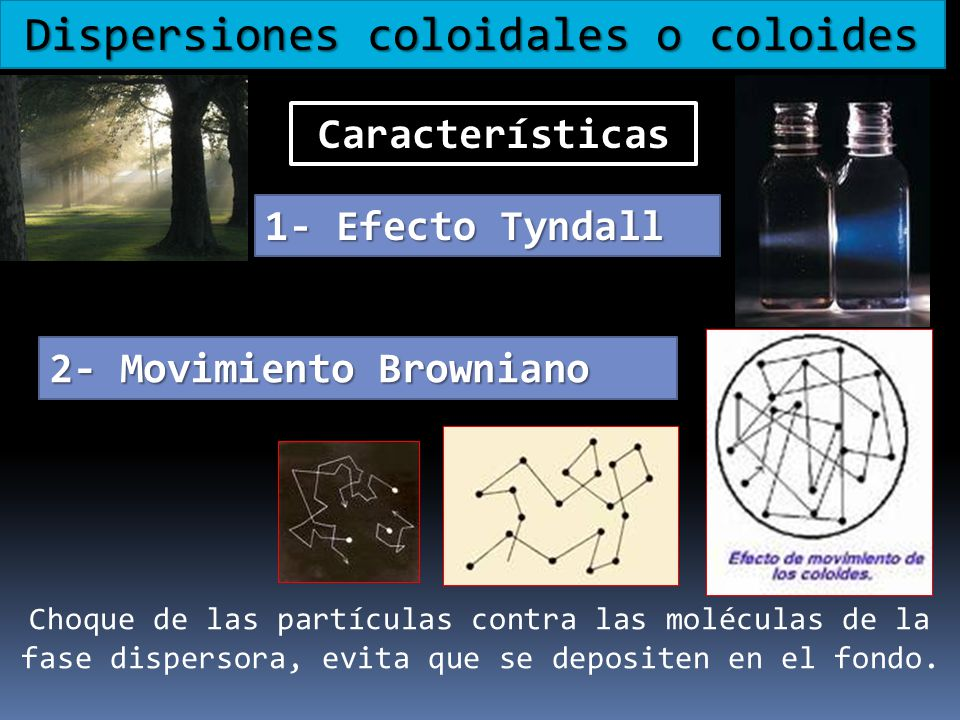 Dispersiones coloidales o coloides