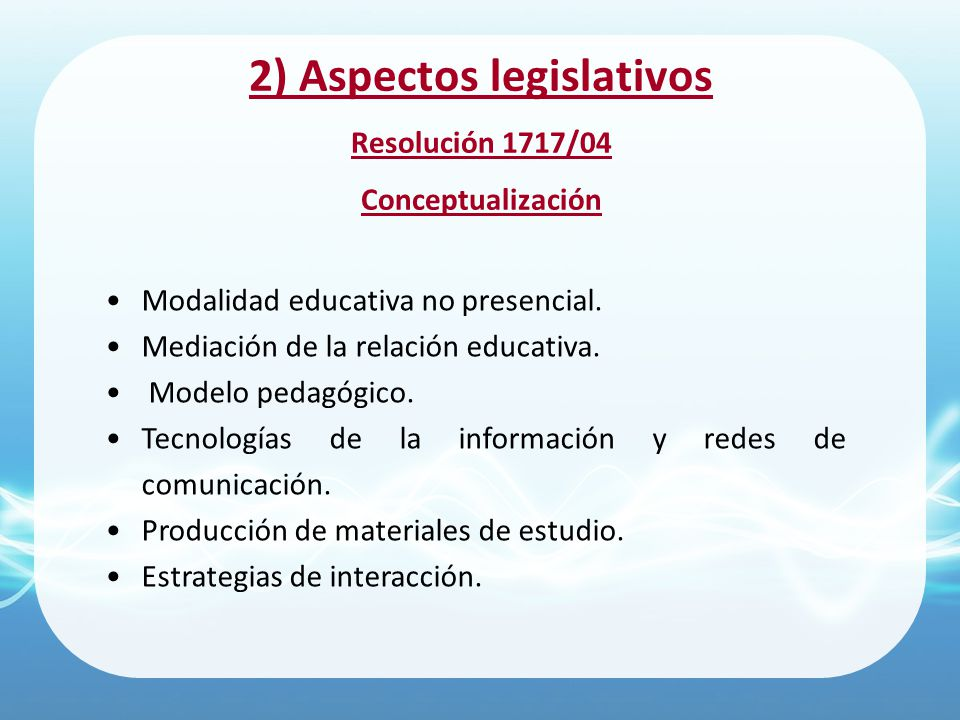 2) Aspectos legislativos
