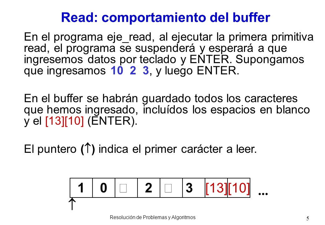 Read: comportamiento del buffer