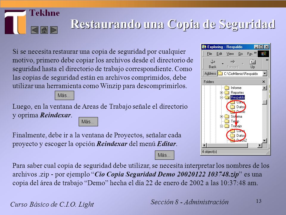 Restaurando una Copia de Seguridad