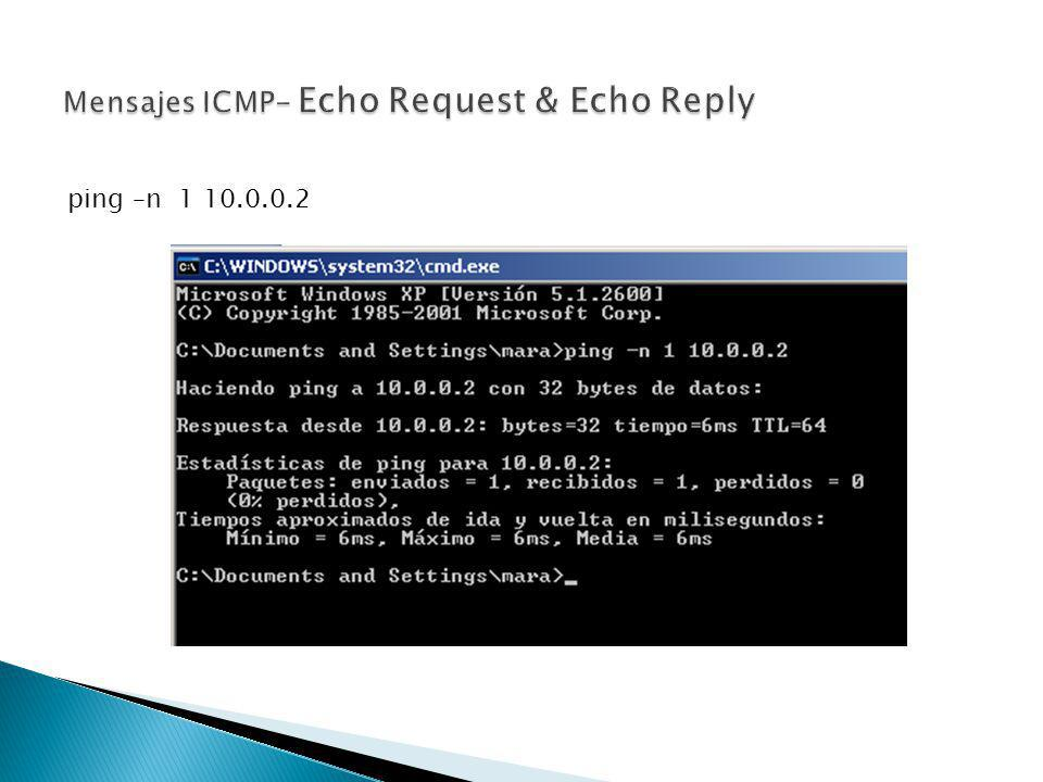 Mensajes ICMP- Echo Request & Echo Reply