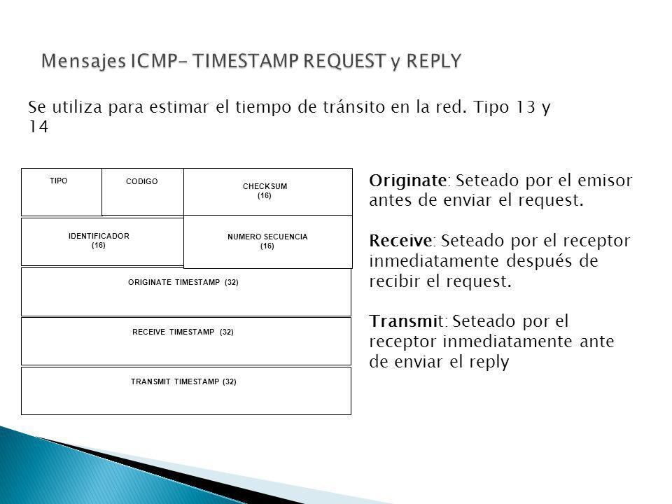 Mensajes ICMP- TIMESTAMP REQUEST y REPLY