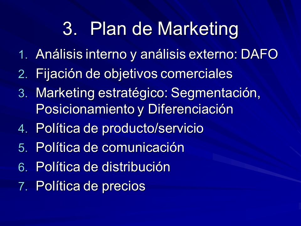 Plan de Marketing Análisis interno y análisis externo: DAFO