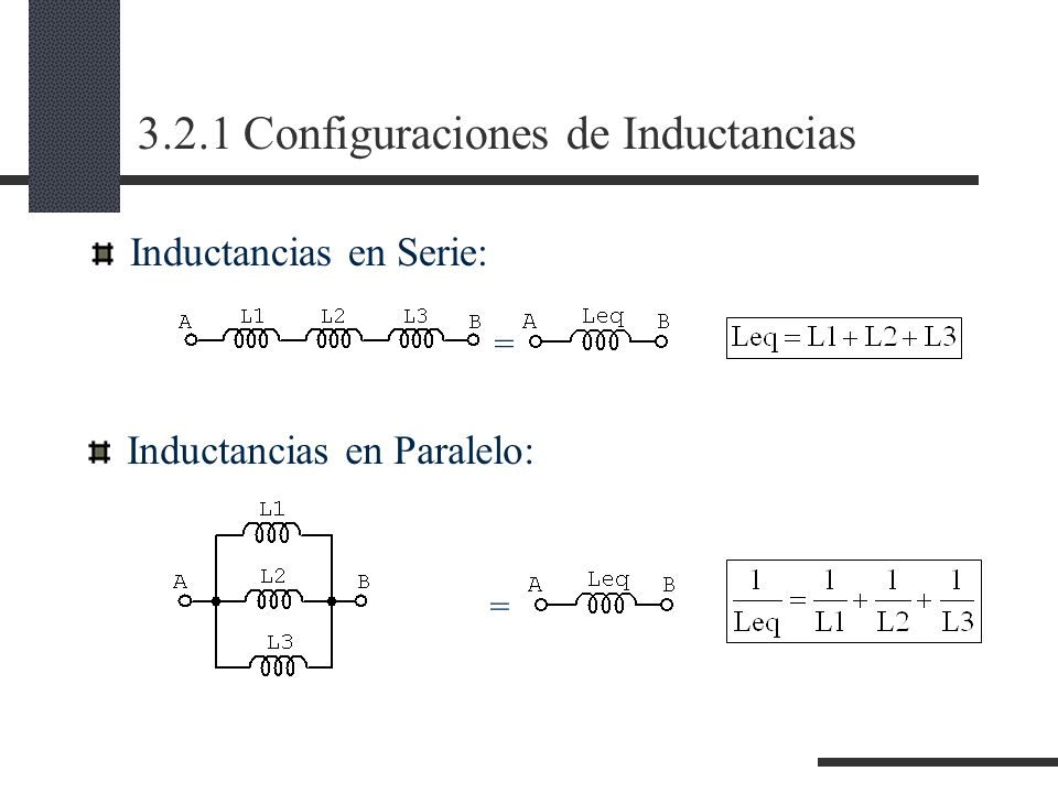 3.2.1 Configuraciones de Inductancias