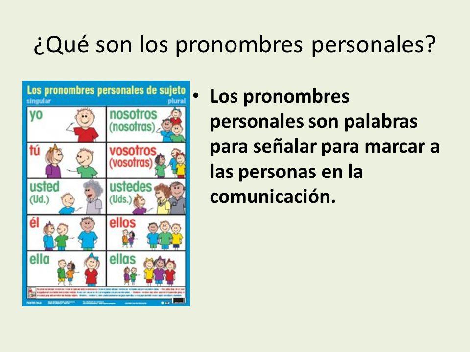 Resultado de imagen de LOS PRONOMBRES PERSONALES