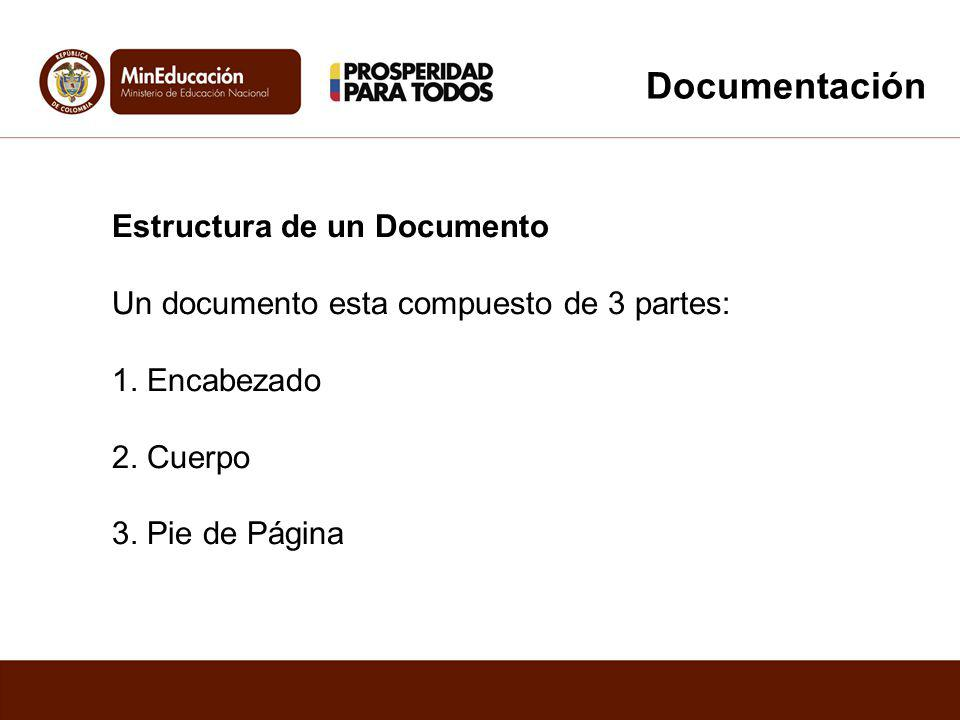 Documentación Estructura de un Documento