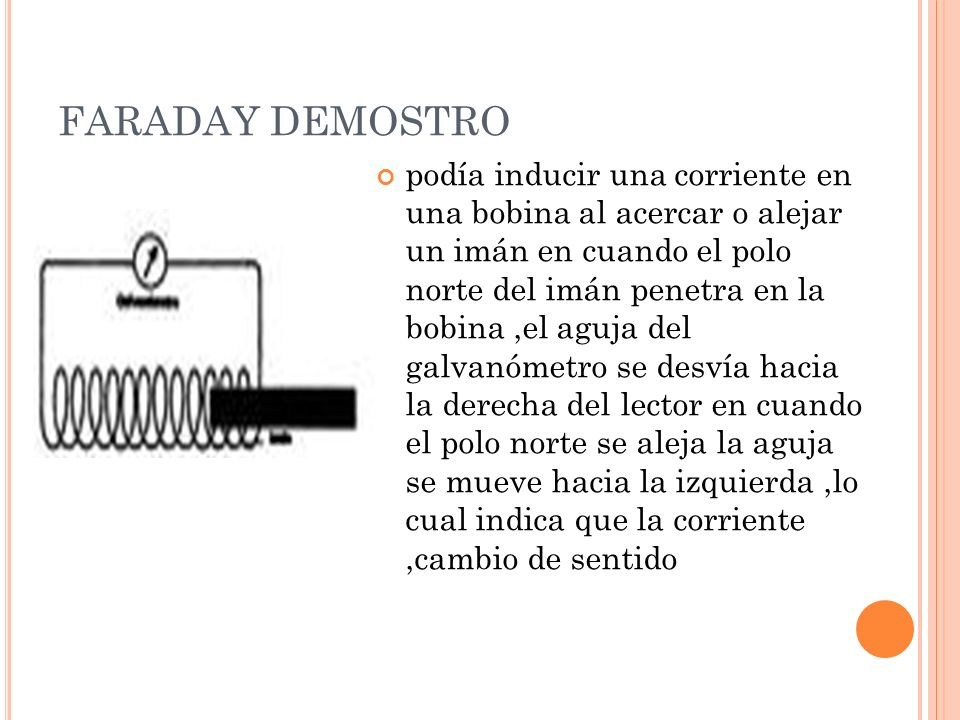 FARADAY DEMOSTRO