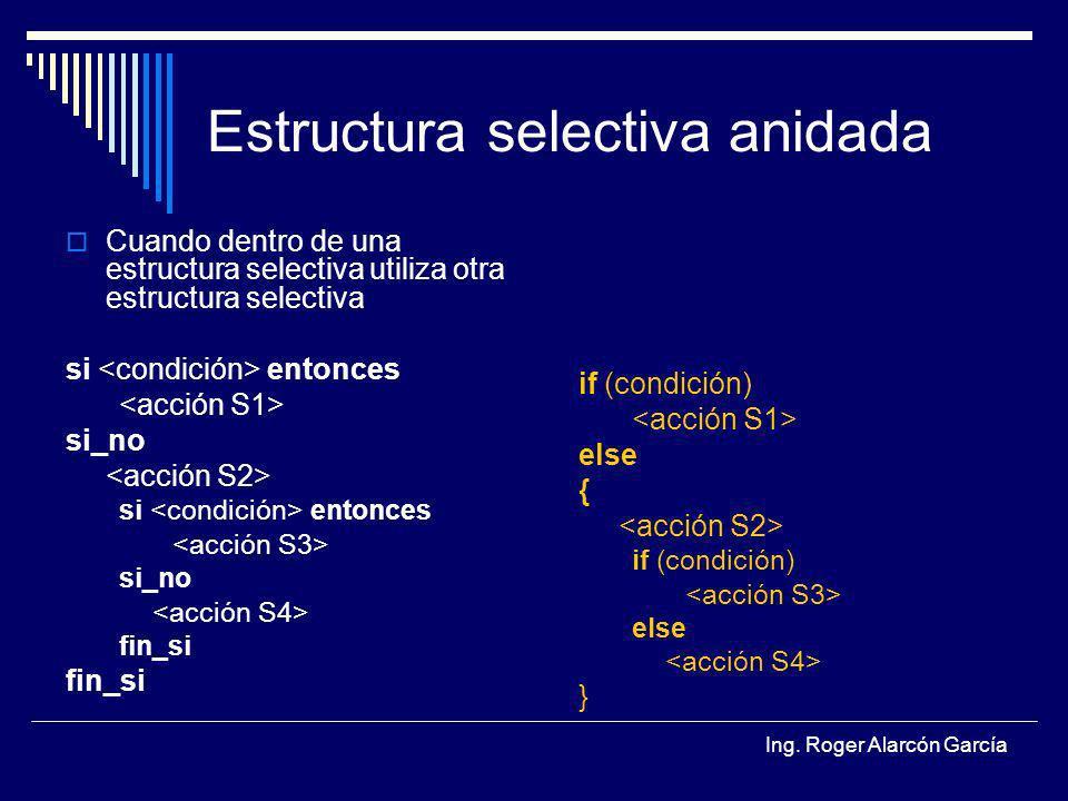 Estructura Selectiva Anidada Ppt Descargar