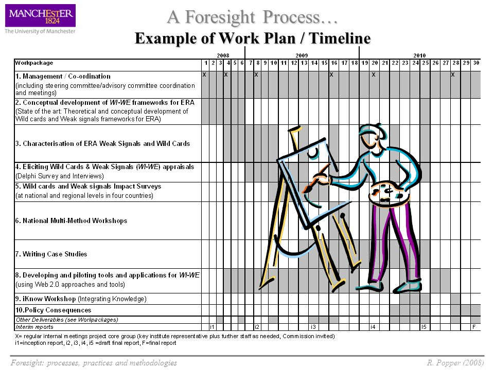 A Foresight Process… Example of Work Plan / Timeline