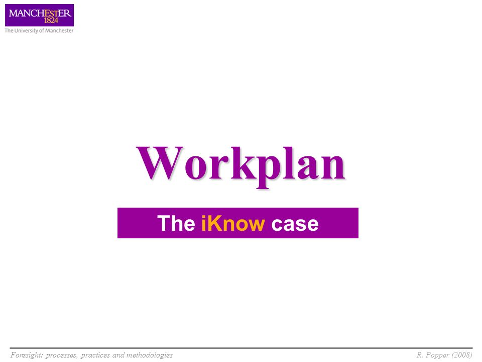 Workplan The iKnow case 9