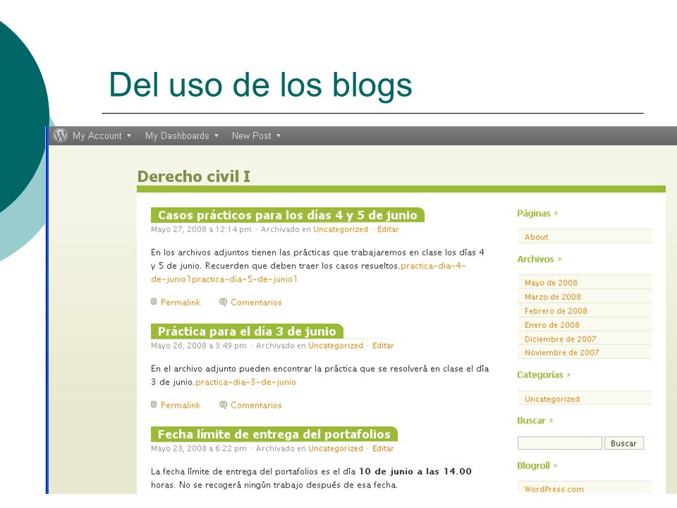 Del uso de los blogs