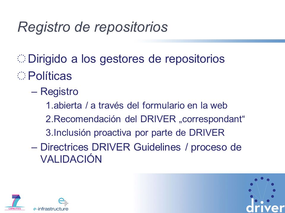 Registro de repositorios