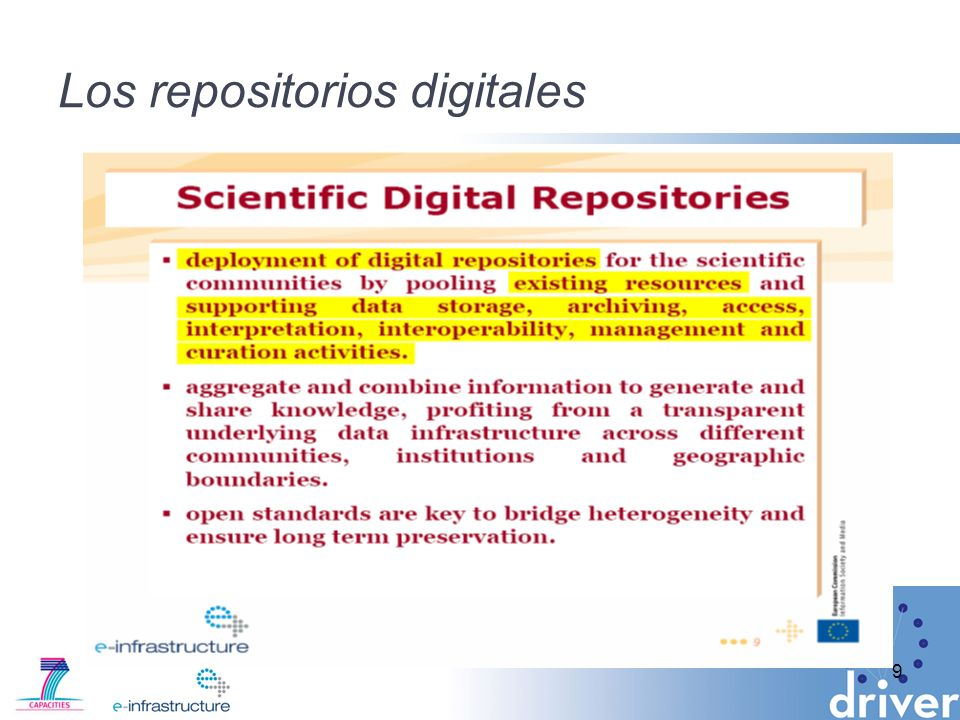 Los repositorios digitales
