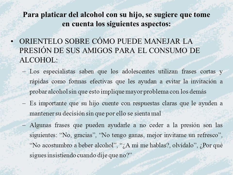 Cómo Hablar Del Alcohol Con Los Hijos Adolescentes Ppt