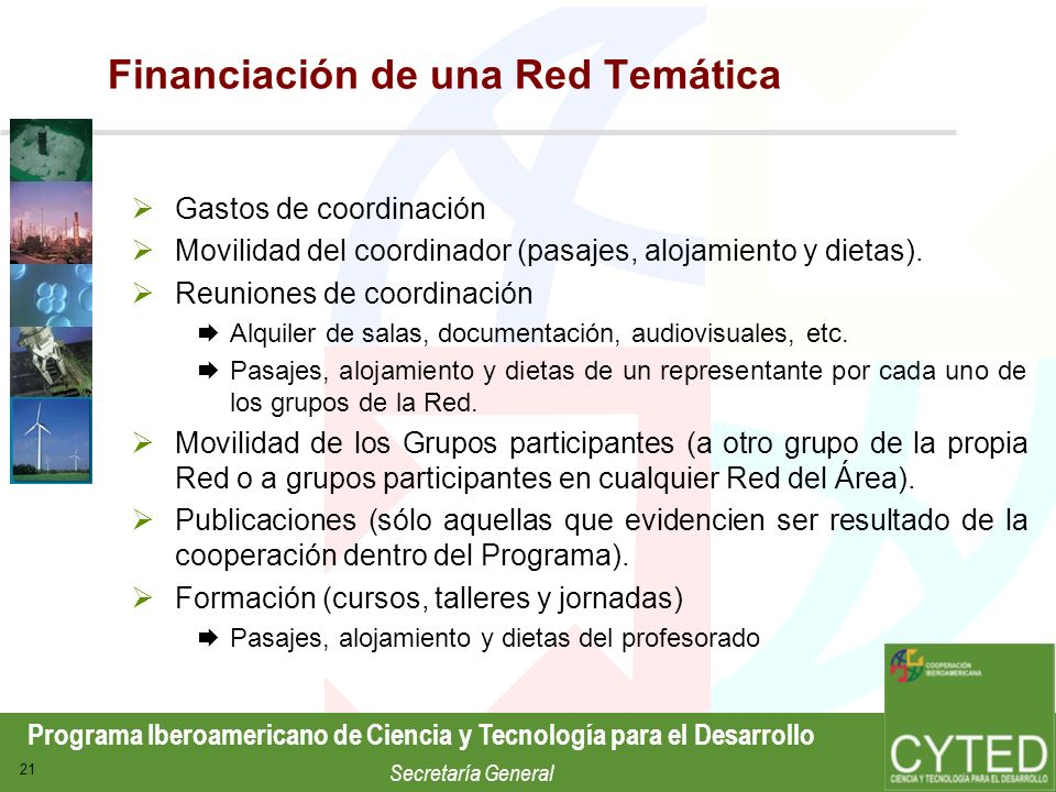 Financiación de una Red Temática