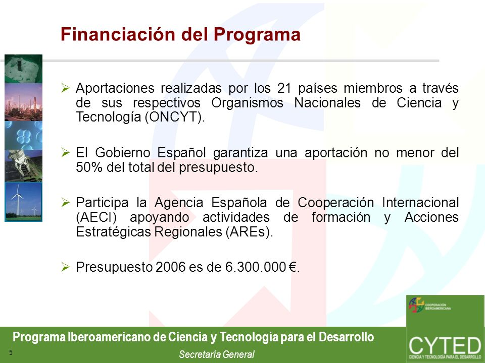Financiación del Programa