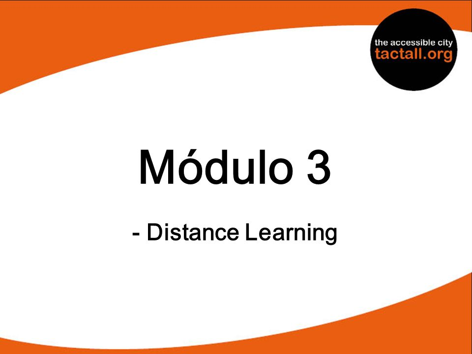 Módulo 3 - Distance Learning