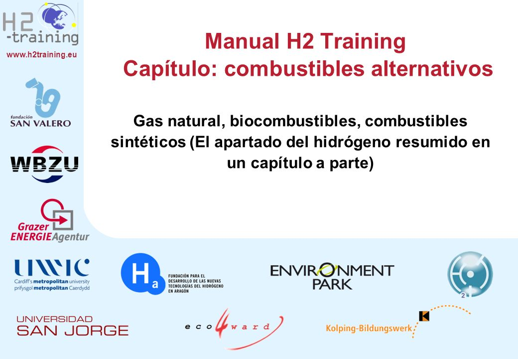 Manual H2 Training Capítulo: combustibles alternativos