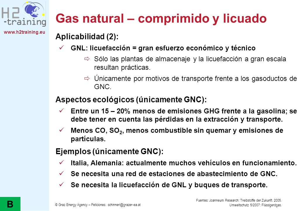 Gas natural – comprimido y licuado
