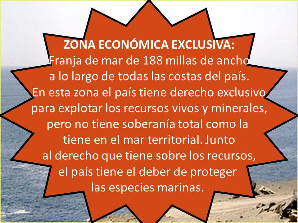 ZONA ECONÓMICA EXCLUSIVA: