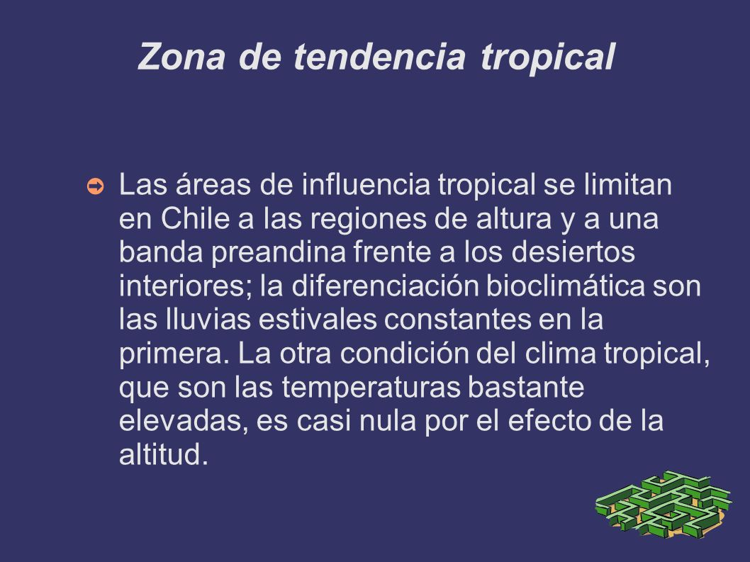 Zona de tendencia tropical