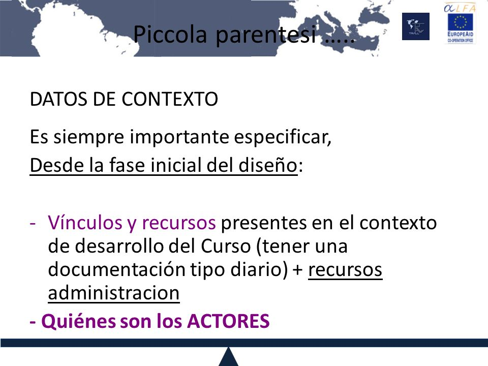Piccola parentesi ….. DATOS DE CONTEXTO