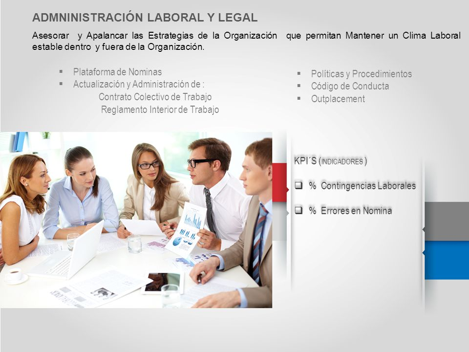ADMNINISTRACIÓN LABORAL Y LEGAL