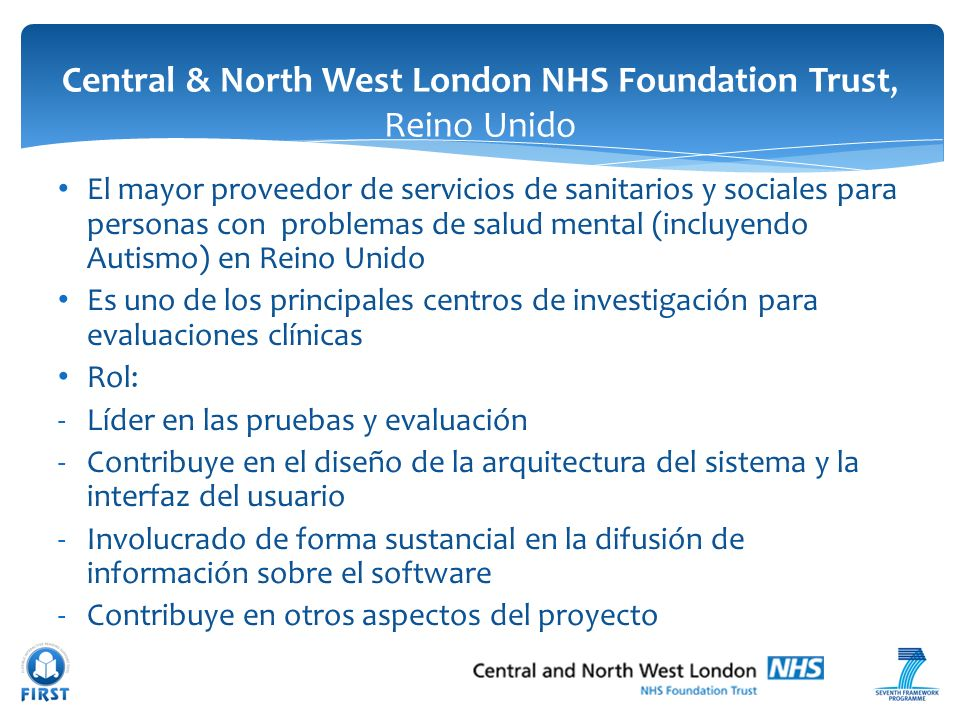 Central & North West London NHS Foundation Trust, Reino Unido