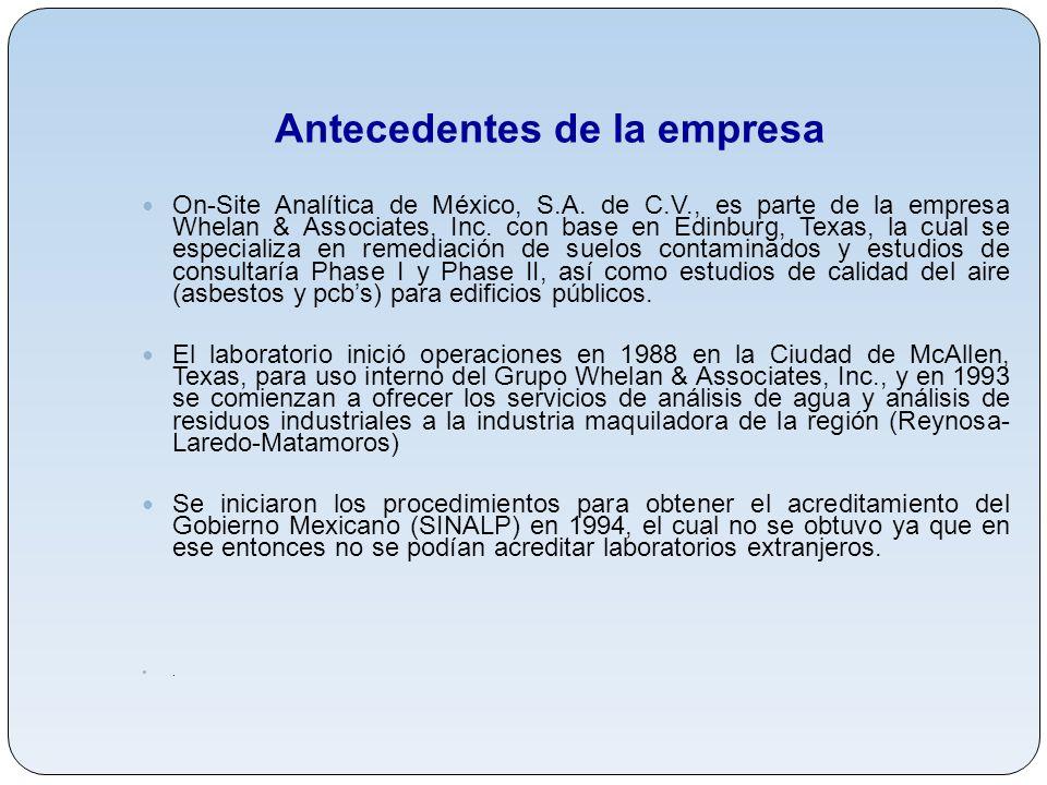 On-Site Analítica de Mexico, S.A. de C.V. - ppt descargar