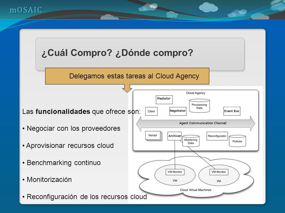 Delegamos estas tareas al Cloud Agency