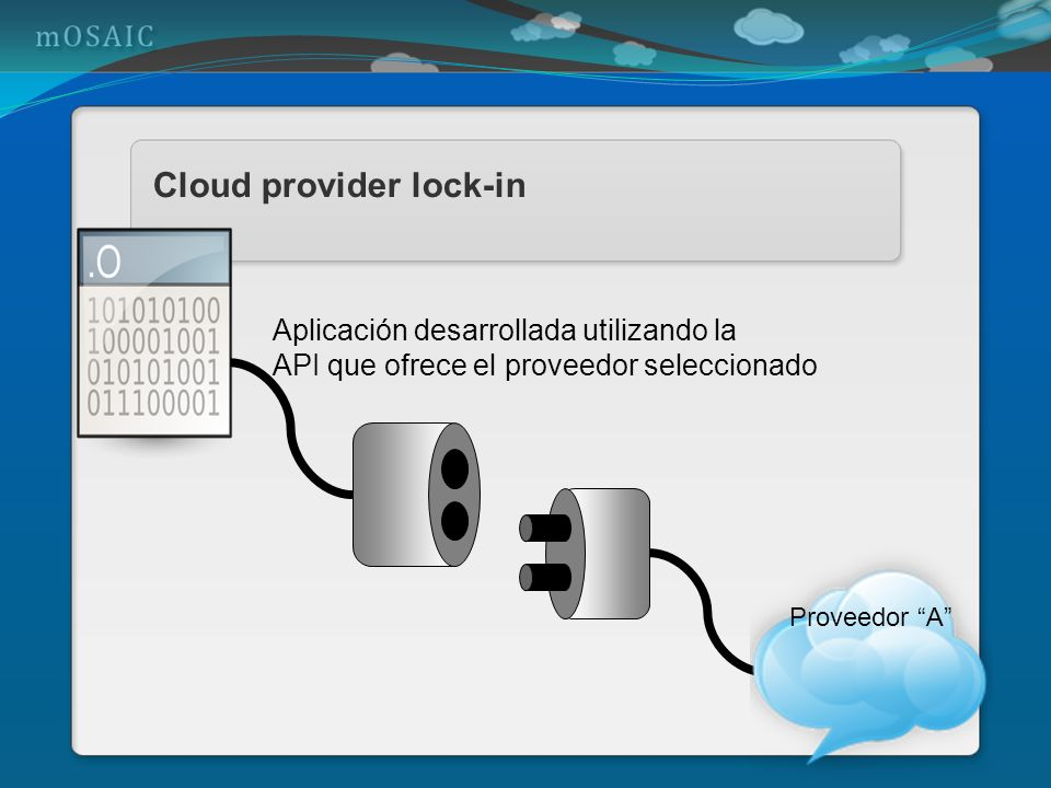 Cloud provider lock-in