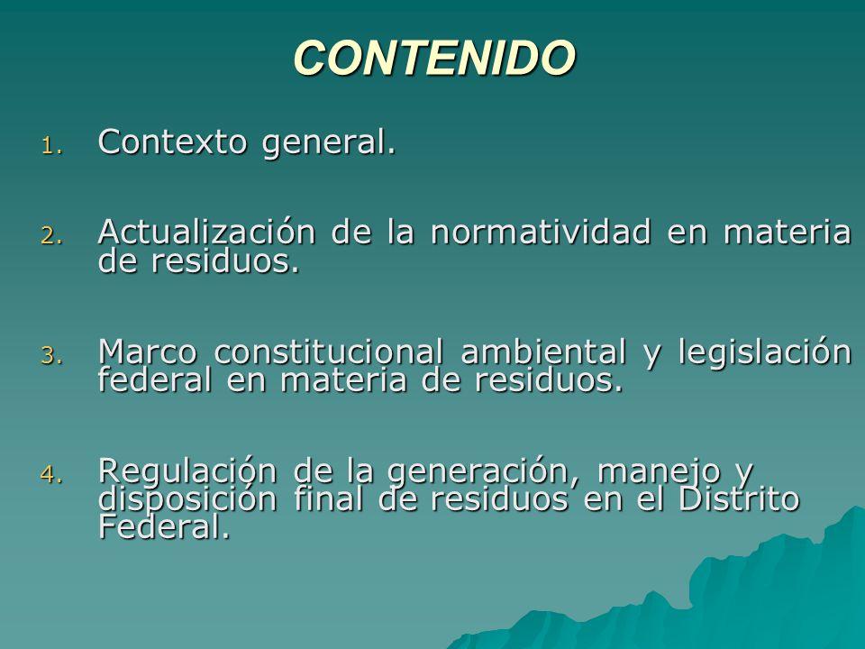 REGULACIÓN DE LA GENERACIÓN, MANEJO Y DISPOSICIÓN FINAL DE RESIDOS ...