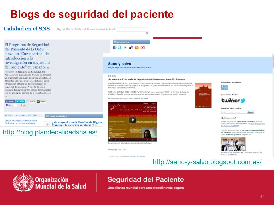 Blogs de seguridad del paciente