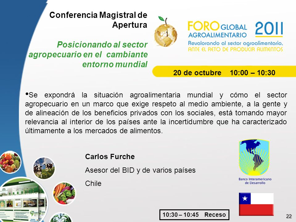 Foro Global Agroalimentario ppt descargar