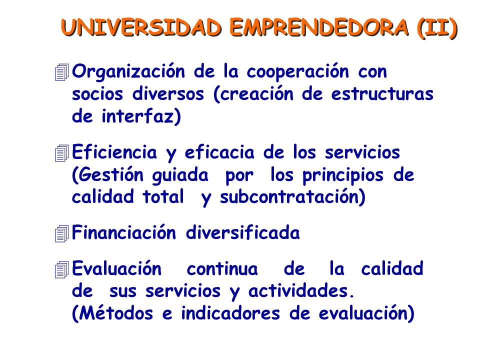 UNIVERSIDAD EMPRENDEDORA (II)