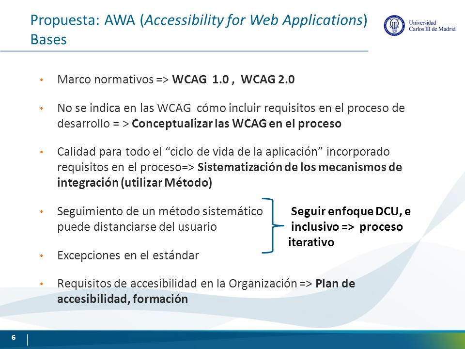 Propuesta: AWA (Accessibility for Web Applications) Bases