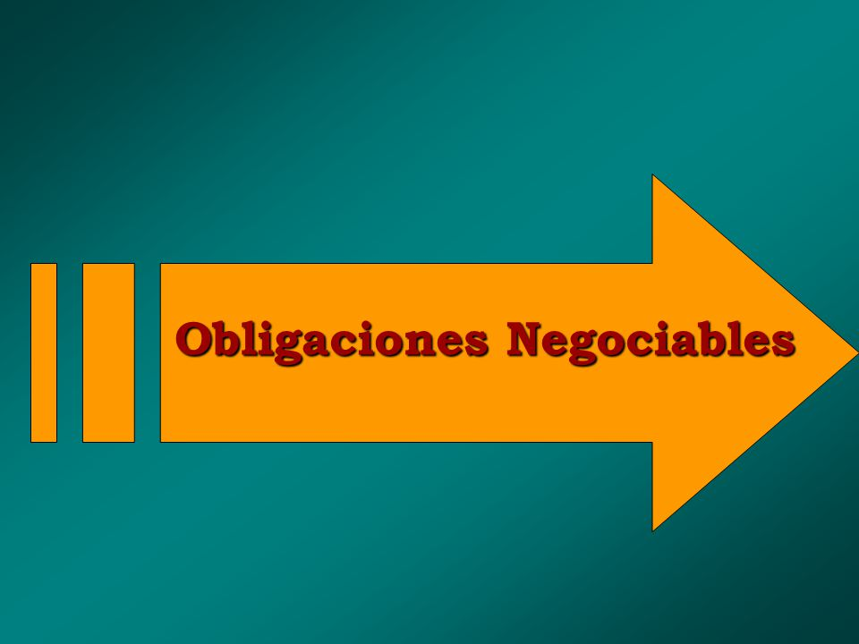 Obligaciones Negociables